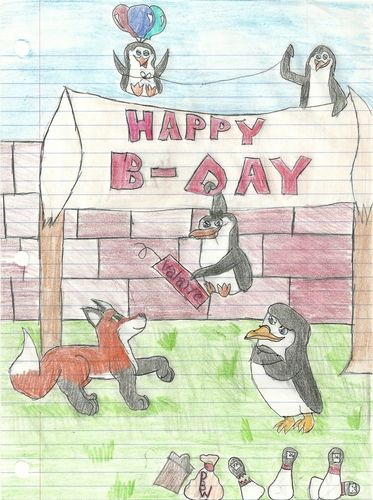 my birthday with the penguins