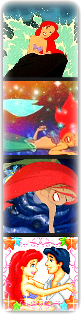 princess Ariel collage