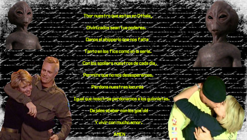 Samantha Carter wallpaper entitled sam - jack - thor wallpaper shipper (spanish version)