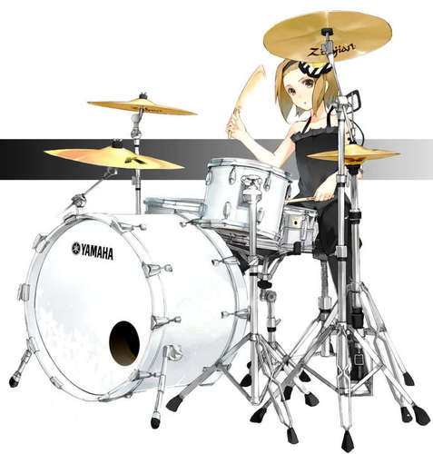 Tainaka Ritsu wallpaper with a bass drum, a tenor drum, and a drummer titled tainaka ritsu