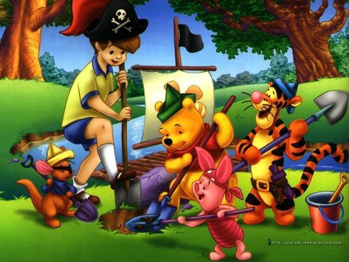 Winnie The Pooh kertas dinding probably with Anime called winnie the pooh
