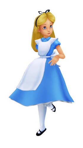 Alice, as she appears in the Kingdom Hearts series