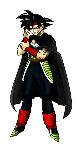 Bardock looking evil! With a cape!