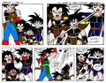 Bardock raising his children-to not pick on Goku-mini manga-part 2 (Final part) - bardock photo