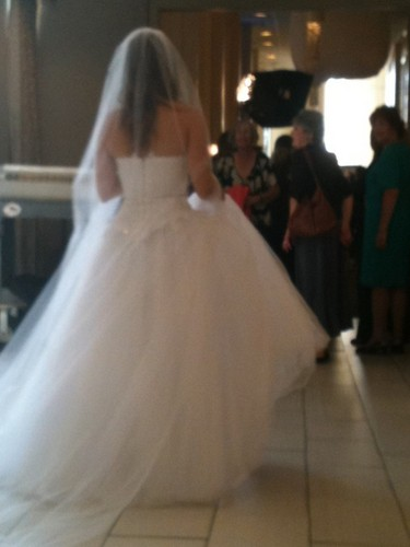 Brooke in a wedding dress