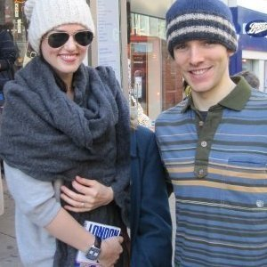 Colin Morgan wallpaper possibly with a street entitled Colin's (and Katie's) beanie hat!