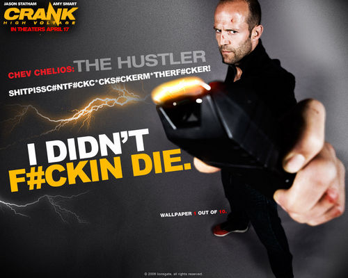 Action Films wallpaper probably with a sign and anime entitled Crank 2: High Voltage