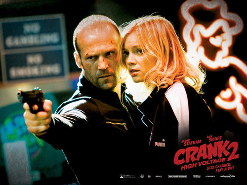 Action Films fondo de pantalla possibly with a sign called Crank 2: High Voltage