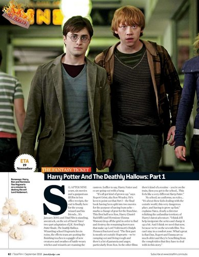 Deathly Hallows in Total Film magazine