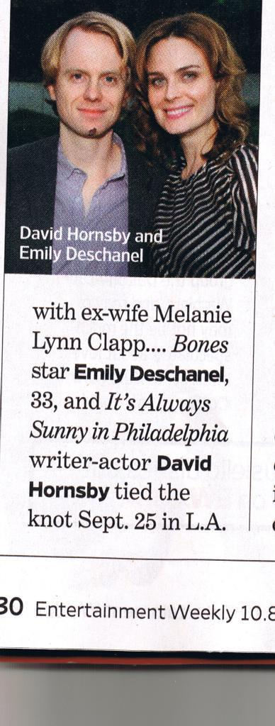 Emily & David's Wedding: Entertainment Weekly