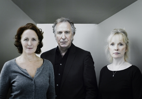 Fiona Shaw, Alan Rickman and Lindsay Duncan in the ABBEY THEATRE production of JOHN GABRIEL BORKMAN