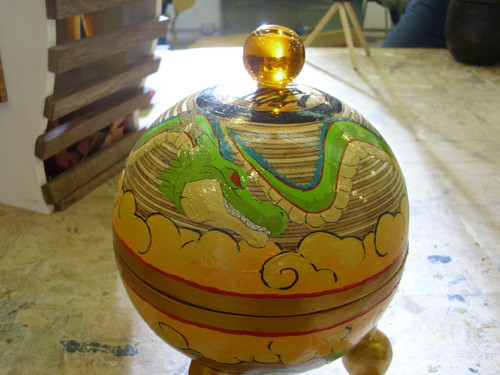 Hand made Dragon Ball reliquary complete with hand casted four start Dragon Ball