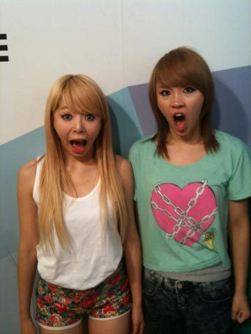 Hyuana & jiyoon montrer their bizarre side