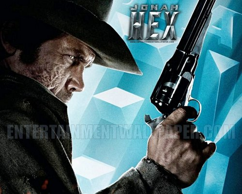 Action Films fondo de pantalla with a fedora and a campaign hat entitled Jonah Hex