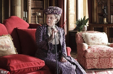 Maggie Smith in Downton