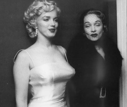 Marilyn and Marlene Dietrich