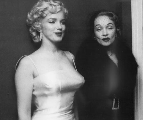 Marilyn and Marlene Dietrich