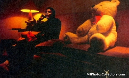Michael and a teddy bear!:D