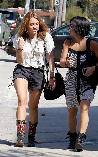 Miley out in Westwood