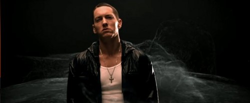 EMINEM wolpeyper possibly with a well dressed person and a portrait titled No pag-ibig Music Video