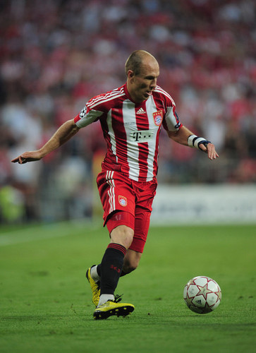Robben playing for Bayern Munich