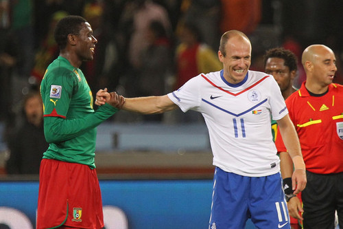 Robben playing for national team