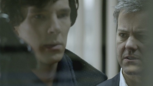 Benedict Cumberbatch wallpaper containing a business suit called Sherlock-1x03