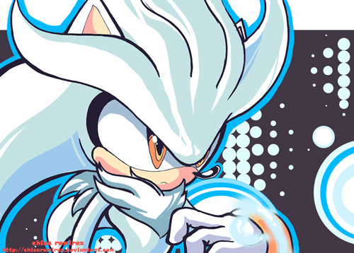 Silver the Hedgehog wallpaper containing animê called Silver the Hedgehog