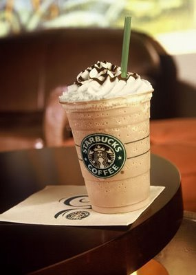 Starbucks Ice blended white chokoleti mocha