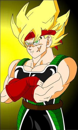 Super Saiyan Bardock with his arms crossed