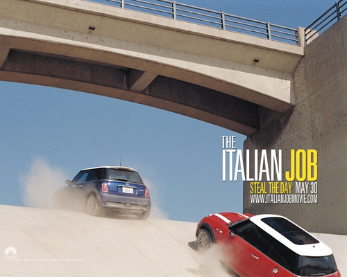 Action Films wallpaper possibly with a faixa de rodagem, calçada titled The Italian Job