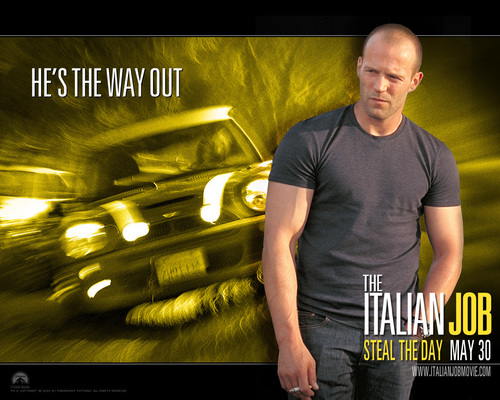 Action Films fondo de pantalla with a sign called The Italian Job