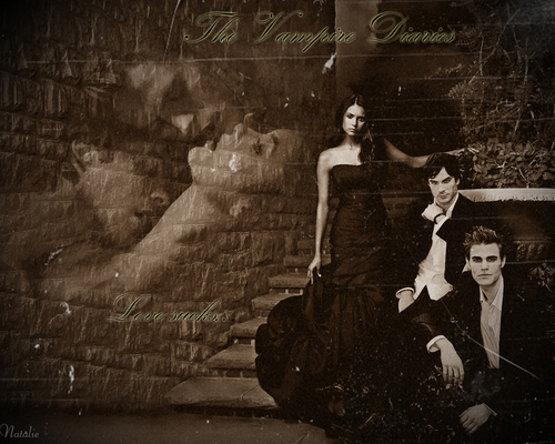 The Vampire Diaries wallpaper containing a strada, via entitled The vampire Diaries