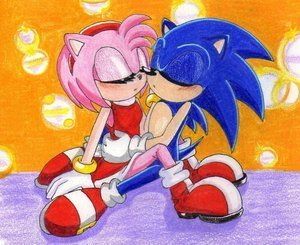 amy and sonic kiss