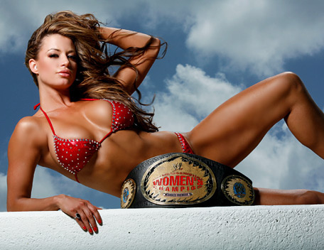 Candice Michelle kertas dinding with a bikini titled candice michelle