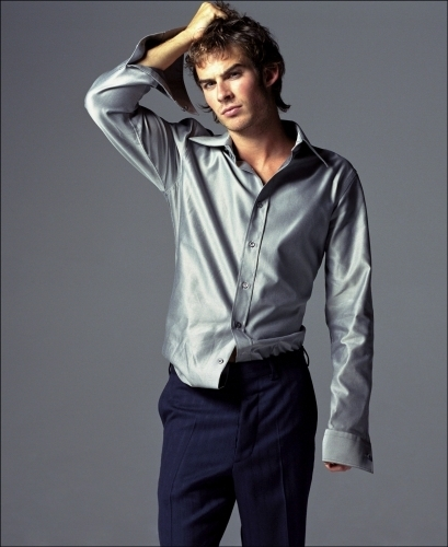 Ian Somerhalder wallpaper containing an outerwear, a leisure wear, and a well dressed person entitled ian somerhalder-photoshoot 2002