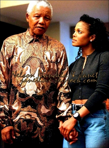 Janet Jackson wallpaper possibly with a dashiki called janet & nelson mandela <3