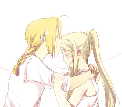 Edward Elric and Winry Rockbell Hintergrund entitled KISS