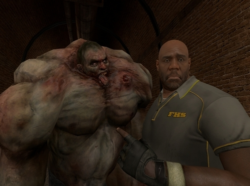 left 4 dead 2 wallpaper possibly with an abattoir titled Coach