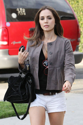 leaving the Byron and Tracey Salon in Beverly Hills