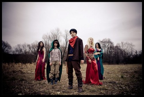 merlin ,morgana, morgause,mordred and nimueh costumes