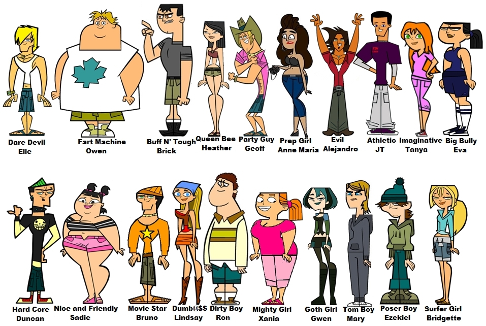 Photoaltan8 total drama island character quiz for The book of life characters names
