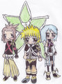 terra, aqua, ventus chibi's - kingdom-hearts fan art