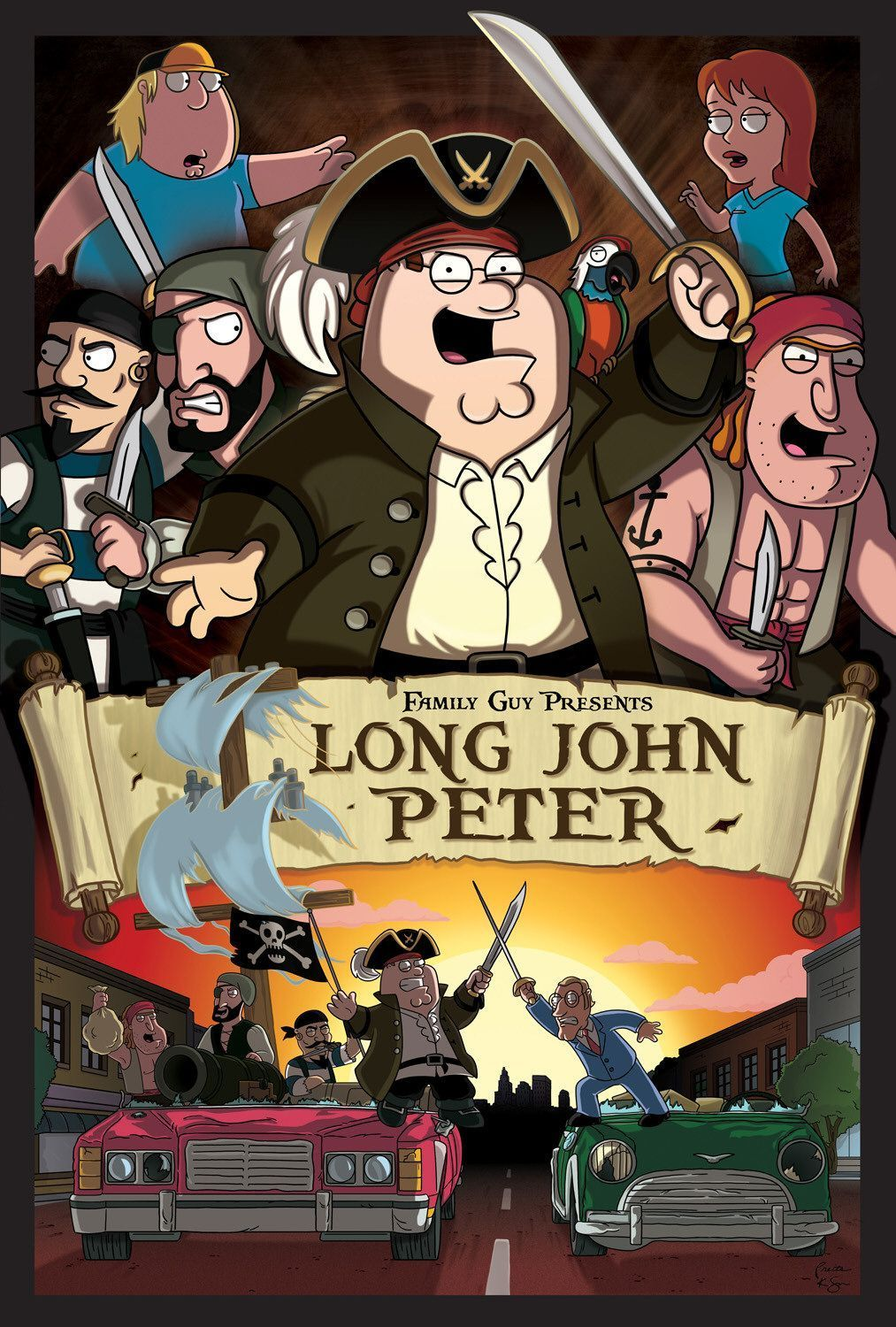'Family Guy' Poster ~ Long John Peter