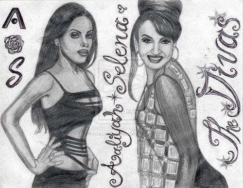 Aaliyah and Selena - aaliyah Fan Art