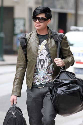 Adam Lambert Leaves His Hotel in Pennsylvania
