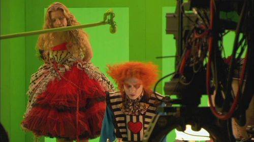 Alice In Wonderland On The Set
