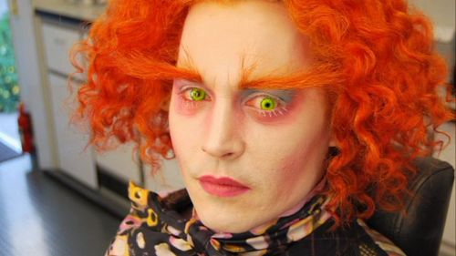 Alice In Wonderland On The Set