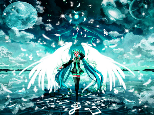vocaloids wallpaper entitled angel Miku