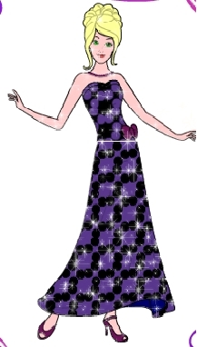 barbie black-violet dress
